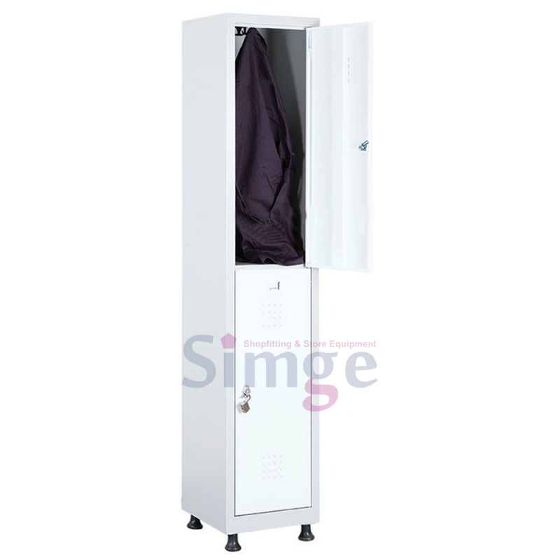 Mini Storage Steel Lockers 2 Door Metal Clothes Cabinet