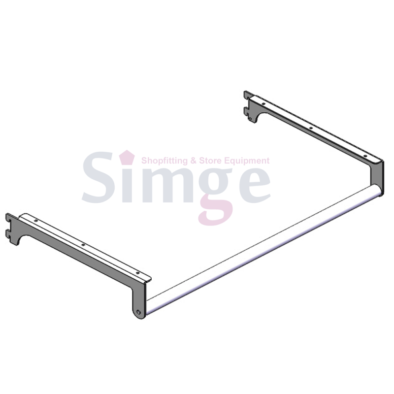 Bracket for Side Hanging Rail, Wooden Shelves
