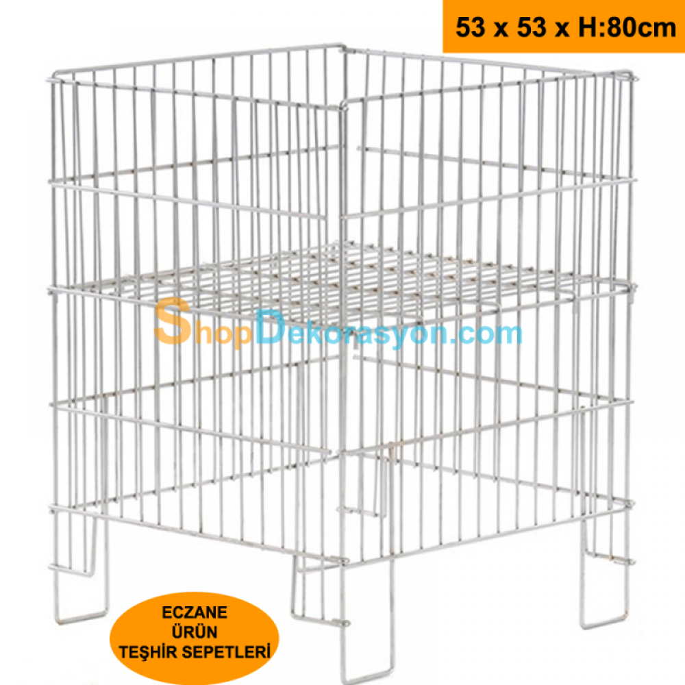 Folding Wire Lowering Display Pool Basket