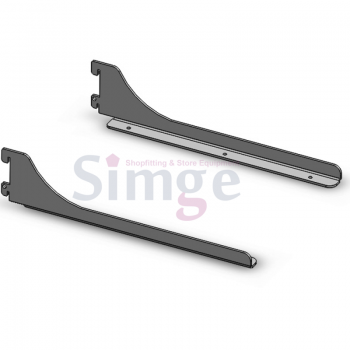 Single Slot Wooden Shelf Brackets