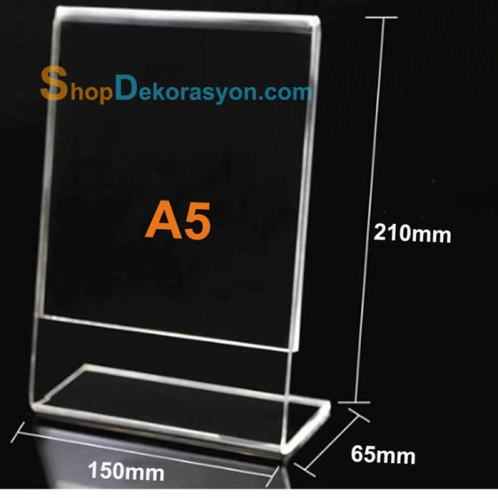 A5 Shelf Top Plexy Price Tag