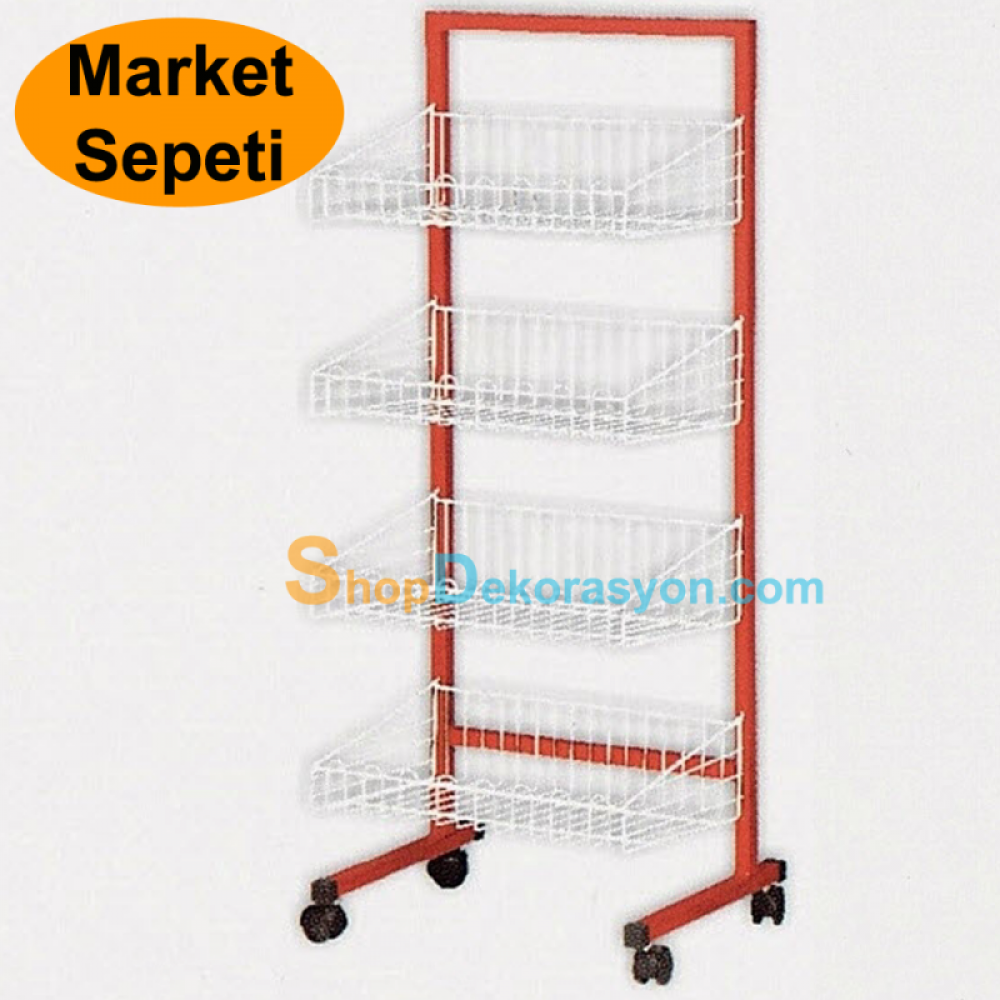Market One Way Footed Basket